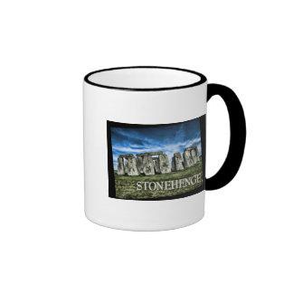 Stonehenge Image with  Caption Stonehenge Ringer Mug