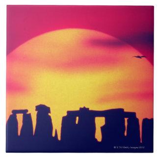 Stonehenge, Inglaterra 2 Azulejo Cuadrado Grande