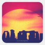 Stonehenge, Inglaterra 2 Pegatina Cuadrada