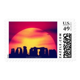 Stonehenge, Inglaterra 2 Sellos Postales