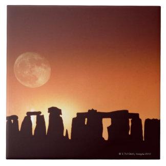 Stonehenge, Inglaterra 3 Azulejo Cuadrado Grande