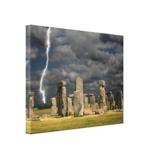 Stonehenge Lightning Canvas Print