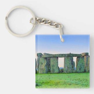 Stonehenge Llavero Cuadrado Acrílico A Una Cara