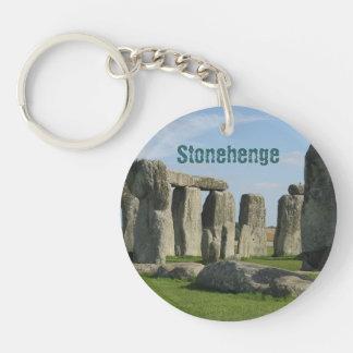 Stonehenge Llavero Redondo Acrílico A Una Cara
