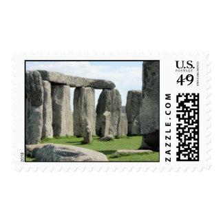 Stonehenge, lugar antiguo del misterio en sello postal