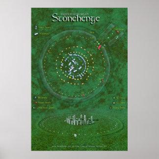 Stonehenge Map Print