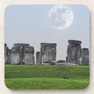 Stonehenge & Moon Ancient Historic Site of Power Beverage Coaster