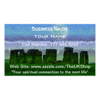 Stonehenge Moon Ancient Historic Site of Power Business Card Template