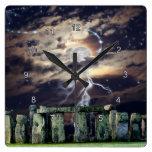 Stonehenge Mystical Druid Art History Clock