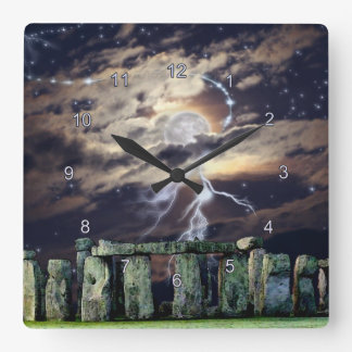 Stonehenge Mystical Druid Art History Clock