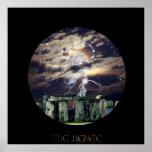 Stonehenge Mystical Druid Art Mytho-Fantasy Poster