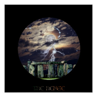 Stonehenge Mystical Druid Art Mytho-Fantasy Poster