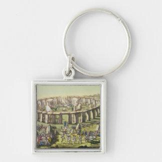 Stonehenge, o un templo circular de los druidas, p llavero