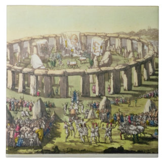 Stonehenge, or a Circular Temple of the Druids, pl Ceramic Tile