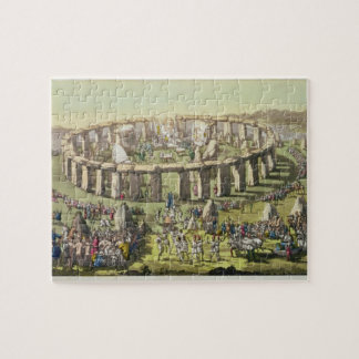 Stonehenge, or a Circular Temple of the Druids, pl Jigsaw Puzzle