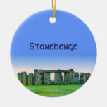 Stonehenge Double-Sided Ceramic Round Christmas Ornament