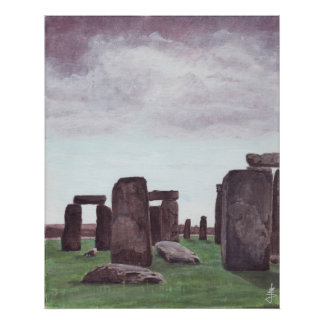 """""""Stonehenge,"""" painting by Jane Sayre Denny Poster"""