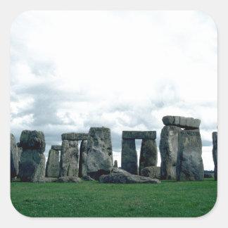 Stonehenge Pegatina Cuadrada