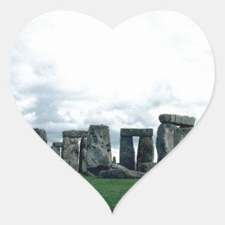 Stonehenge Pegatina En Forma De Corazón