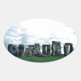 Stonehenge Pegatina Ovalada