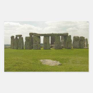 Stonehenge Pegatina Rectangular