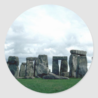 Stonehenge Pegatina Redonda