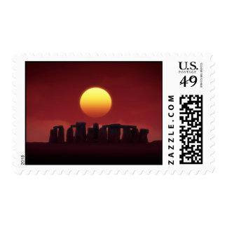 stonehenge postage stamp