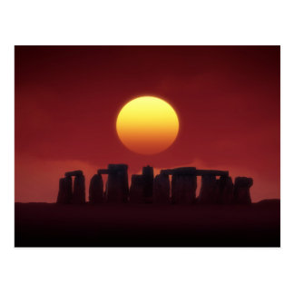stonehenge post card