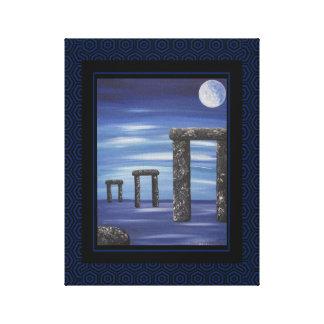 Stonehenge Prehistoric Stone Monolith Painting Canvas Print