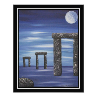 Stonehenge Prehistoric Stone Monolith Painting Photo Print