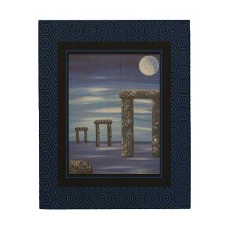 Stonehenge Prehistoric Stone Monolith Painting Wood Print