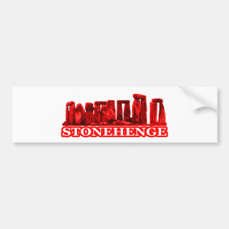 Stonehenge Red transp The MUSEUM Zazzle Gifts Bumper Sticker