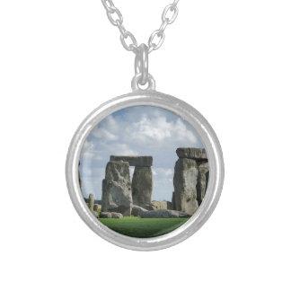 Stonehenge Round Pendant Necklace
