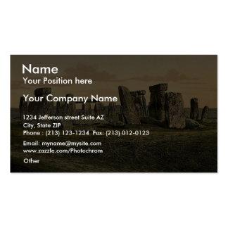 Stonehenge Salisbury England rare Photochrom Business Card Templates