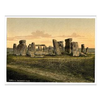 Stonehenge, Salisbury, England rare Photochrom Postcard