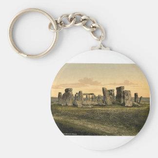 Stonehenge, Salisbury, Inglaterra Photochrom raro Llaveros Personalizados