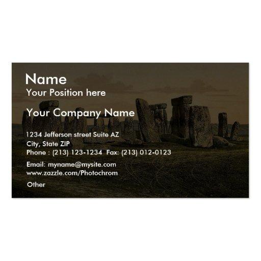 Stonehenge, Salisbury, Inglaterra Photochrom raro Tarjeta De Visita