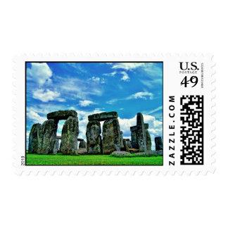 Stonehenge Sello Postal