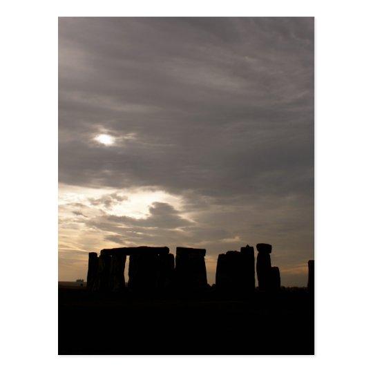 Stonehenge Silhouette Postcard