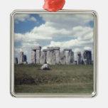 Stonehenge Silver-Colored Square Decoration
