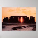 Stonehenge, solsticio de invierno póster