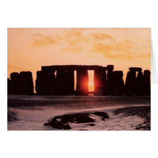 Stonehenge, solsticio de invierno felicitaciones