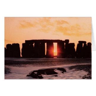 Stonehenge, solsticio de invierno tarjeta de felicitación