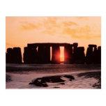 Stonehenge, solsticio de invierno tarjeta postal