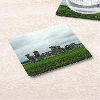 Stonehenge Square Paper Coaster