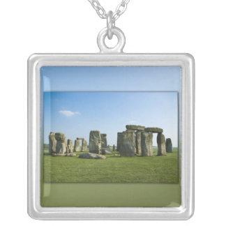 Stonehenge Square Pendant Necklace