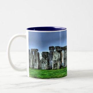 Stonehenge Standing Stone Circle, England Two-Tone Coffee Mug