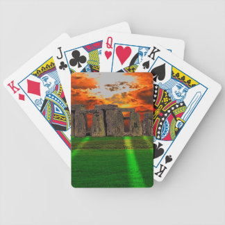 Stonehenge Standing Stones at Sunset Bicycle Playing Cards