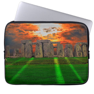 Stonehenge Standing Stones at Sunset Laptop Sleeves