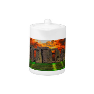 Stonehenge Standing Stones at Sunset Teapot
